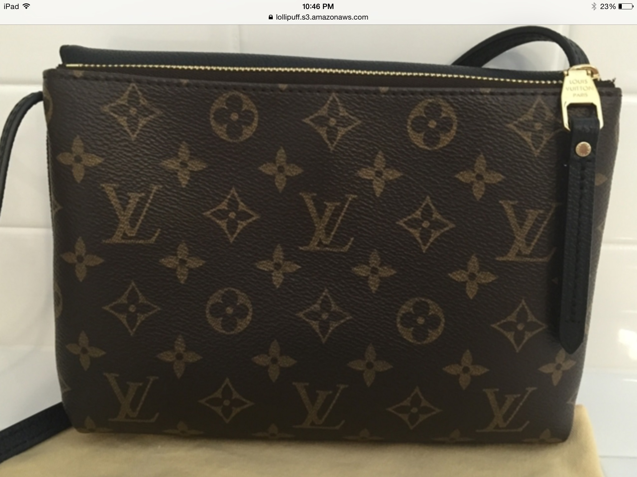 ... authenticity because the letters on the lv label look worn off. It  doesn t look like a heat stamp. Can you help me  It s made in the USA.  Thank you. 980c42b26e7a7