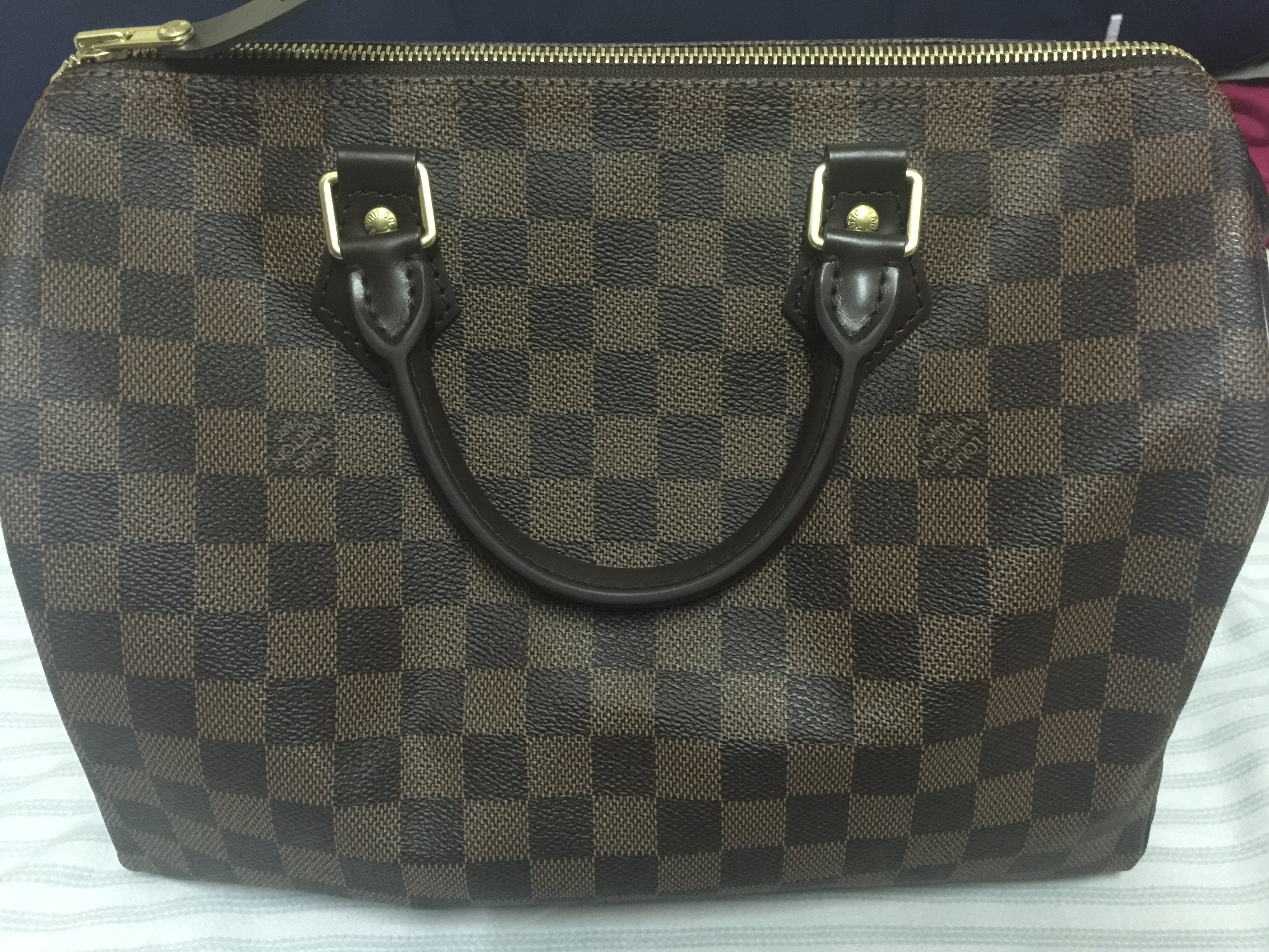 8716e1ce8257 It is speedy 30 damier ebene size 30. The bag is new. The seller advised me  to go to lv store for heat stamping for authentication.