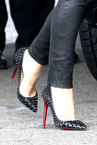 Preowned Christian Louboutin Pigalle Spiked Heels 35.5 / 36 ...