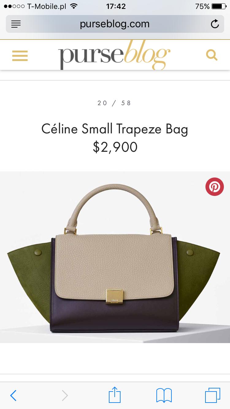 Celine tri-color trapeze Bag  c010976858b46