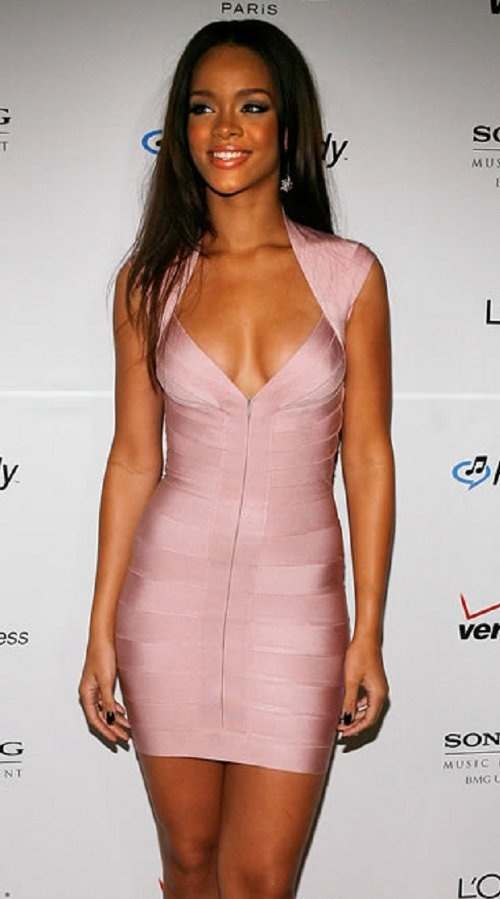 Baby pink dress on dark skin