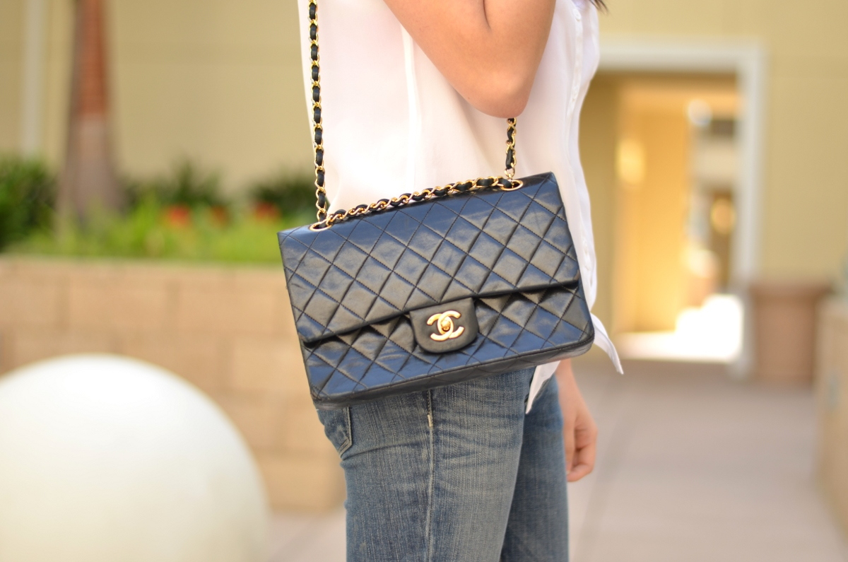 f32239e47709 Features. The classic Chanel double flap bag ...